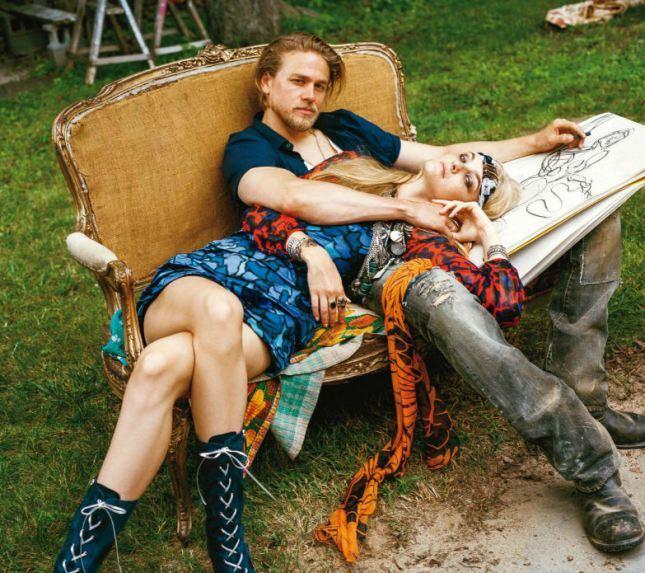 Чарли Ханнэм в журнале Vogue. Декабрь 2014