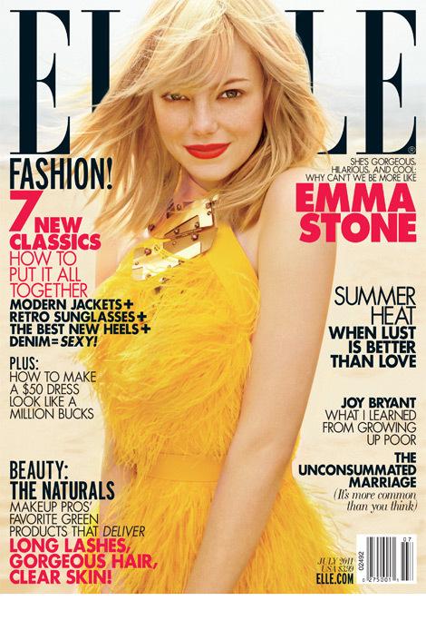 Эмма Стоун в журнале Elle. Июль 2011