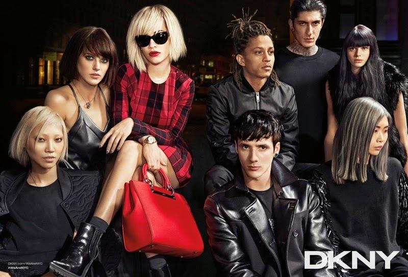 Рита Ора в рекламной кампании DKNY. Осень 2014