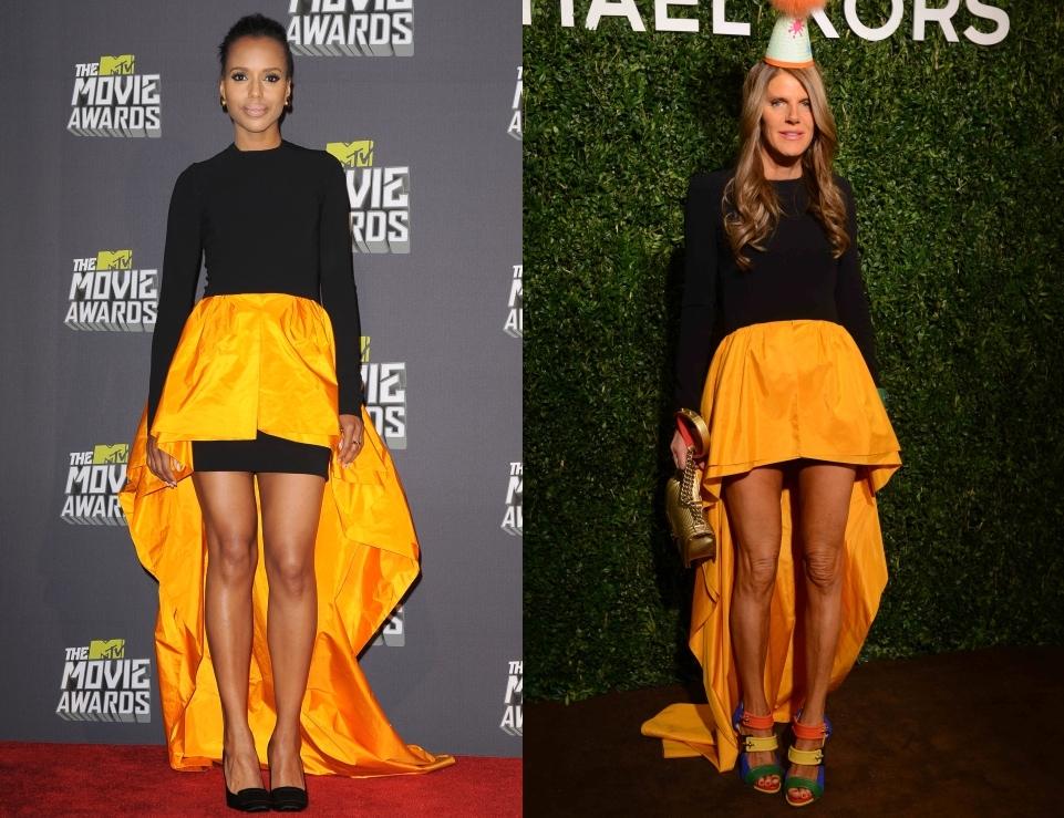 Fashion battle: Керри Вашингтон и Анна Делло Руссо