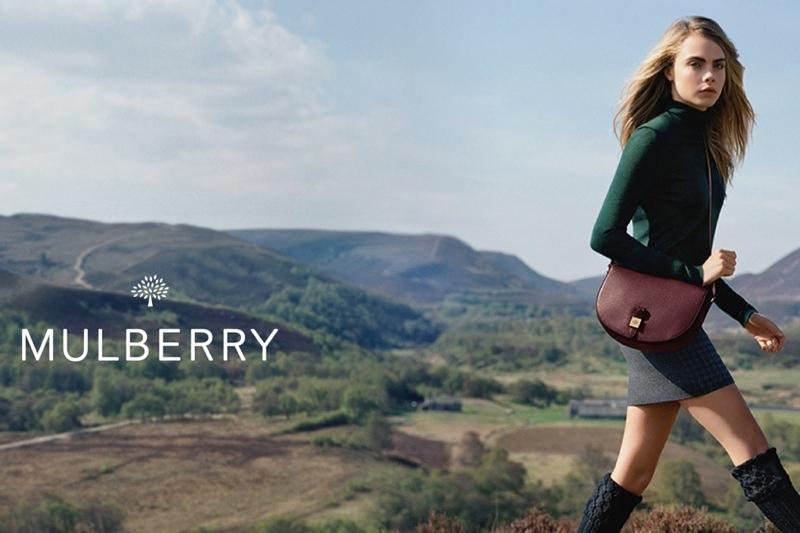 Кара Делевинь в рекламной кампании Mulberry Осень / Зима 2015. Продолжение