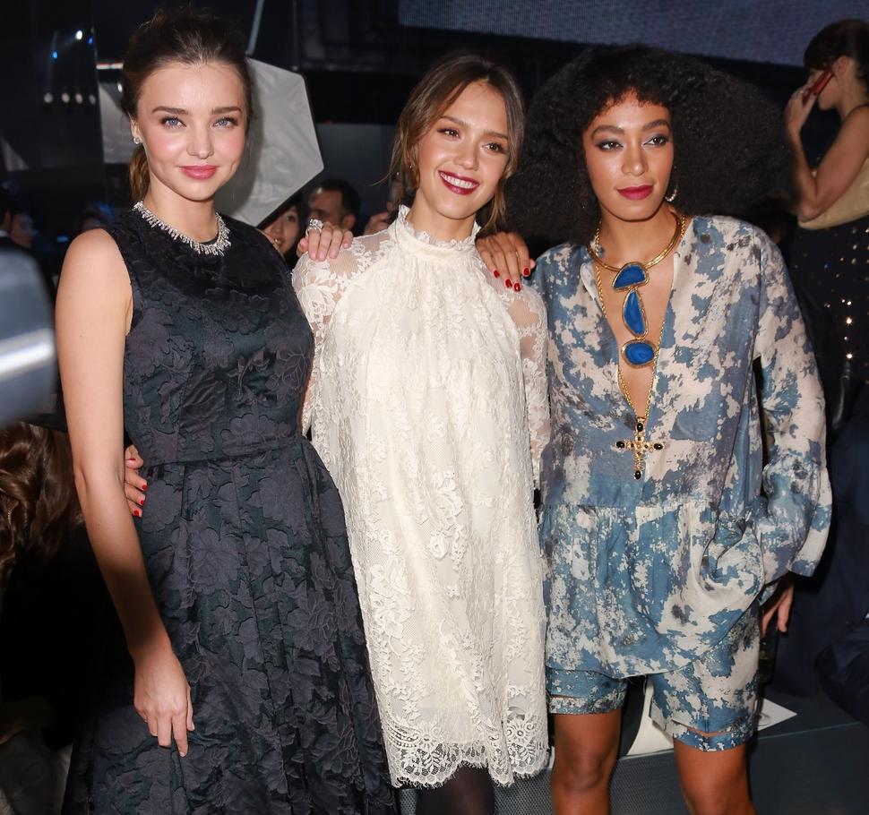 Звезды на модном показе H&M в Париже