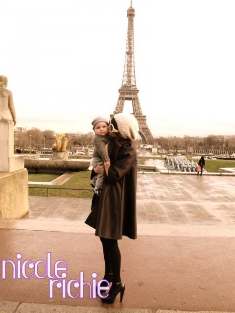 Николь Ричи и малыш Спэрроу в Париже
