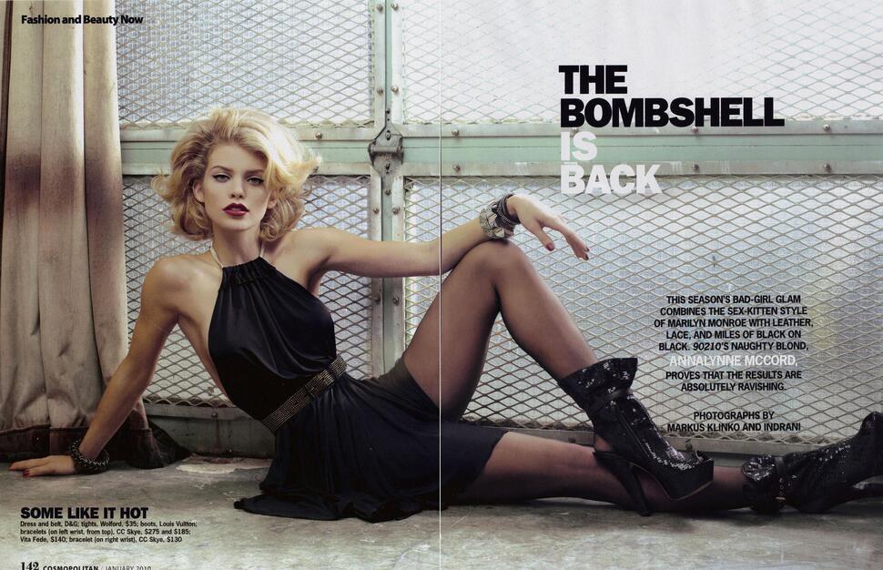 Анна-Линн МакКорд в журнале Cosmopolitan. Январь 2010