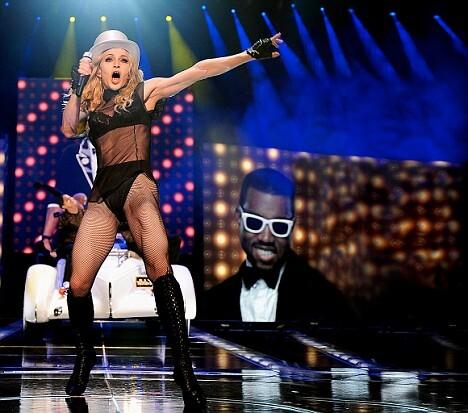 Мадонна на сцене в 50