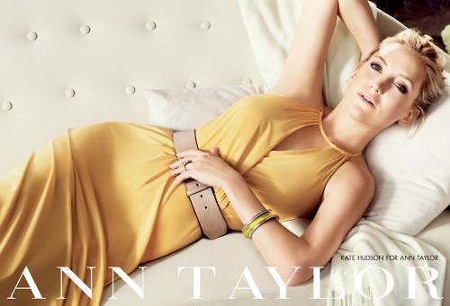Первый взгляд на Кейт Хадсон в рекламной кампании Ann Taylor. Лето 2012