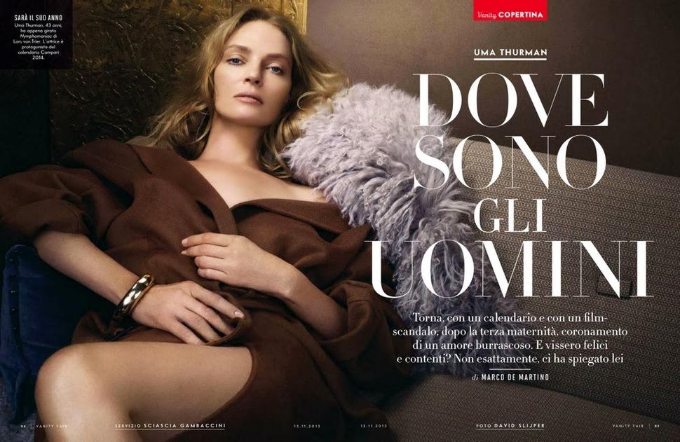 Ума Турман в журнале Vanity Fair Италия. Ноябрь 2013