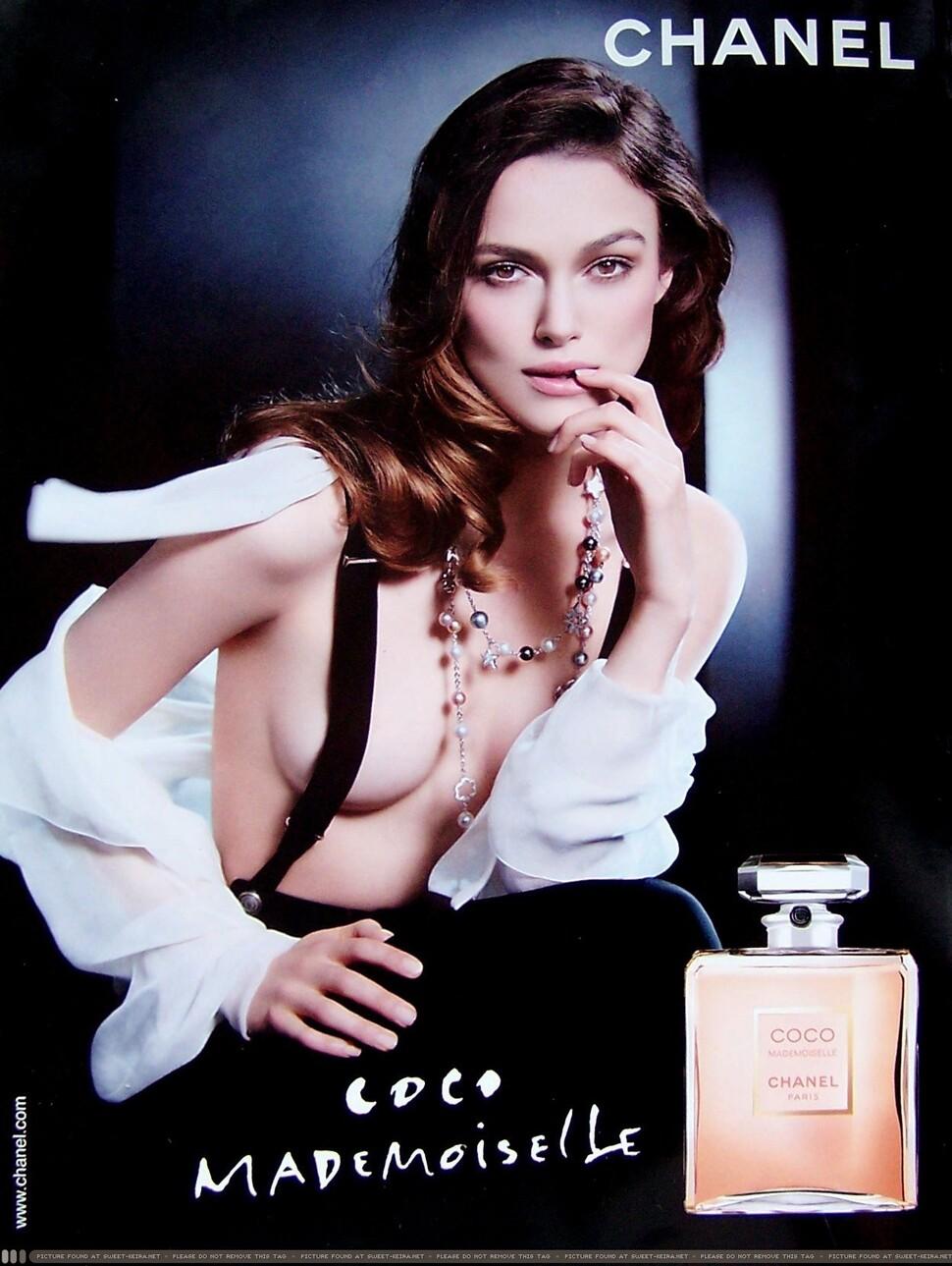 Кира Найтли топлесс в рекламе Chanel