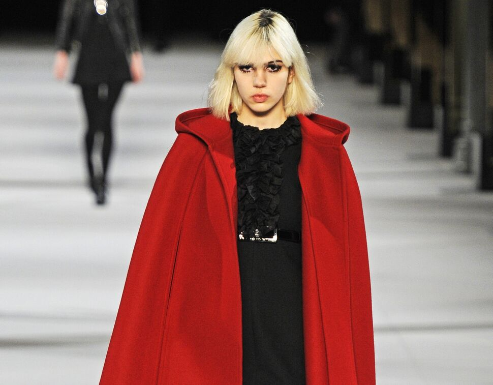 Модный показ новой коллекции Saint Laurent. Осень / зима 2014