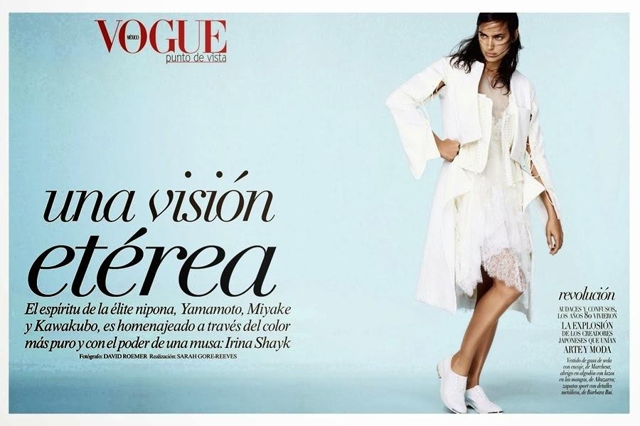 Ирина Шейк в журнале Vogue Мексика. Январь 2014