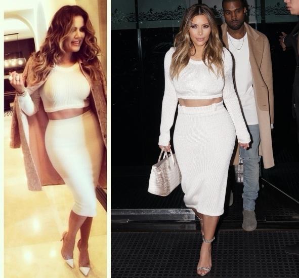 Fashion battle: Хлое Кардашян и Ким Кардашян
