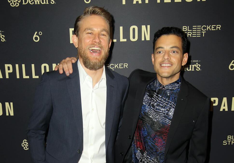 Чарли Ханнэм и Рами Малек представили свой новый фильм «Мотылек» в Лос-Анджелесе