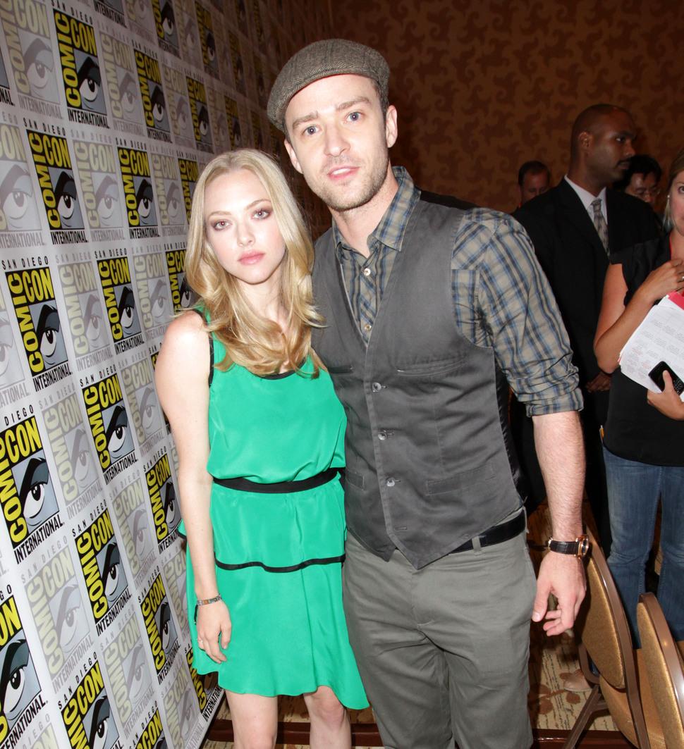 Джастин Тимберлейк и Аманда Сейфрид на фестивале Comic Con 2011