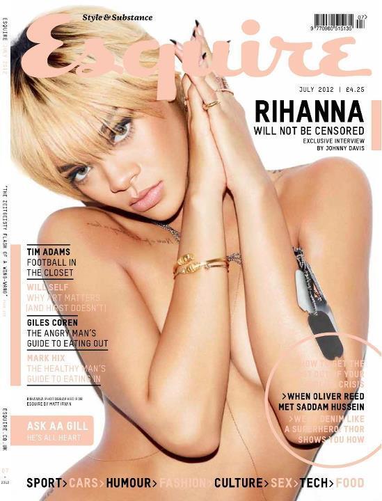 Рианна в журнале Esquire Великобритания. Июль 2012