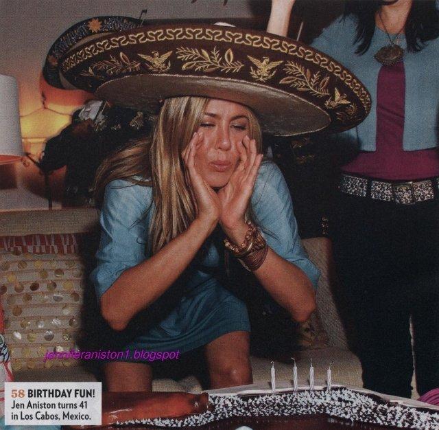 Фотографии с дня рождения Дженнифер Энистон в Мексике в журнале People