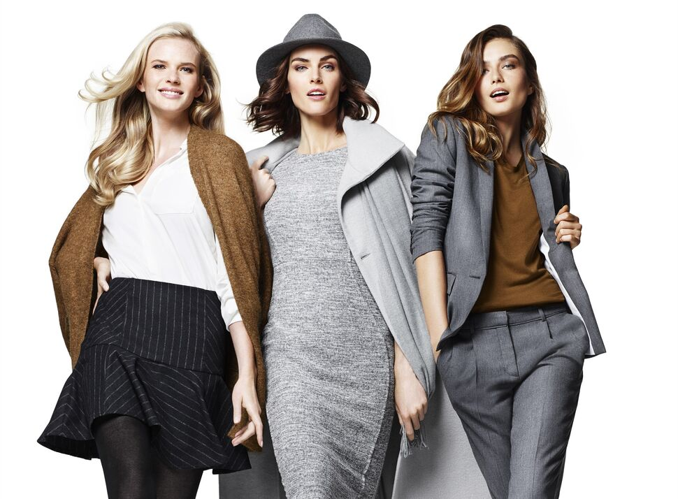 Хилари Рода, Андреа Диакону и Анна Вялицына  в юбилейной рекламной кампании Lindex
