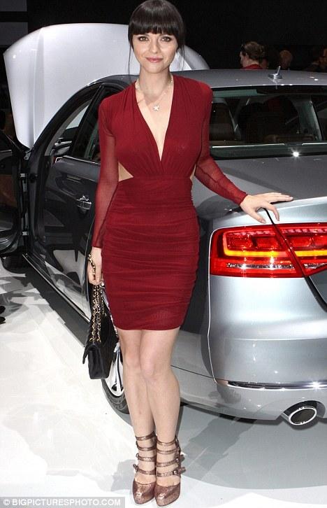 Кристина Риччи на презентации новой Audi A8 во Флориде