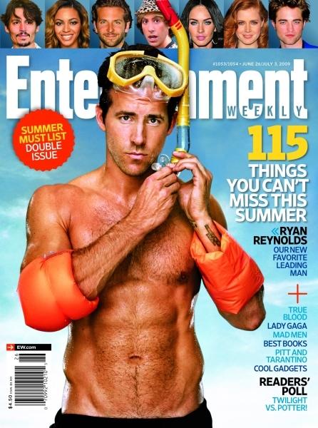 Райан Рейнольдс в журнале Entertainment Weekly. Лето 2009