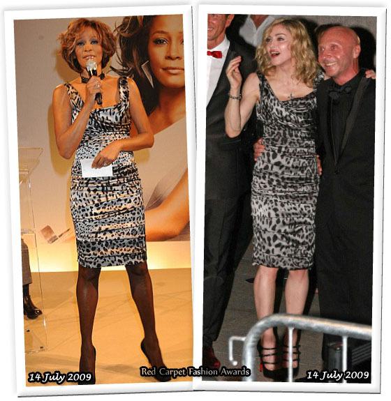 Fashion battle: Уитни Хьюстон и Мадонна