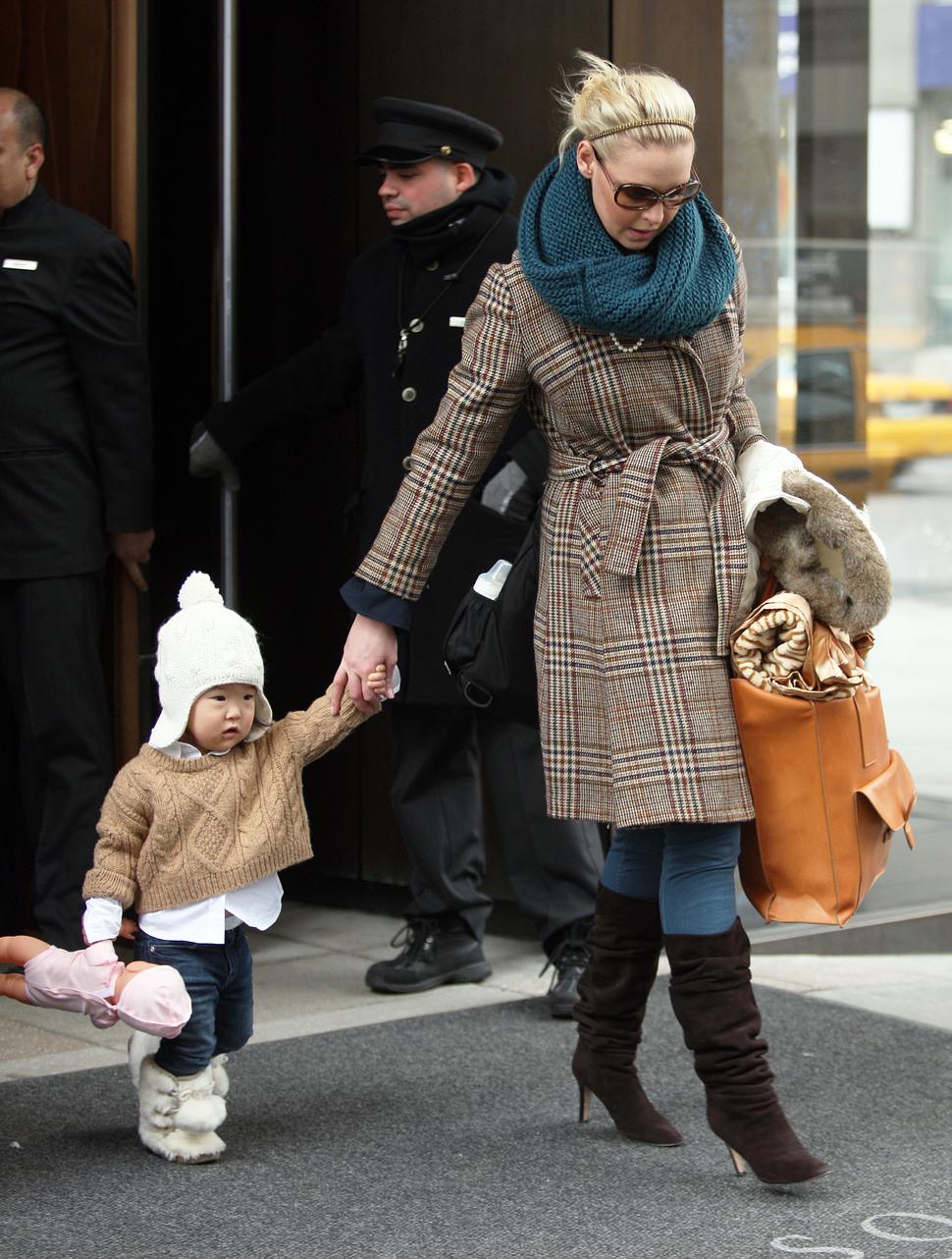 Кэтрин Хайгл: «Моя дочь любит ходить на каблуках»