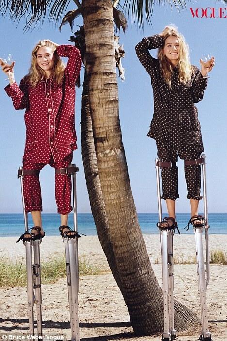 Мэри-Кейт и Эшли Олсен в журнале Vogue. Апрель 2011