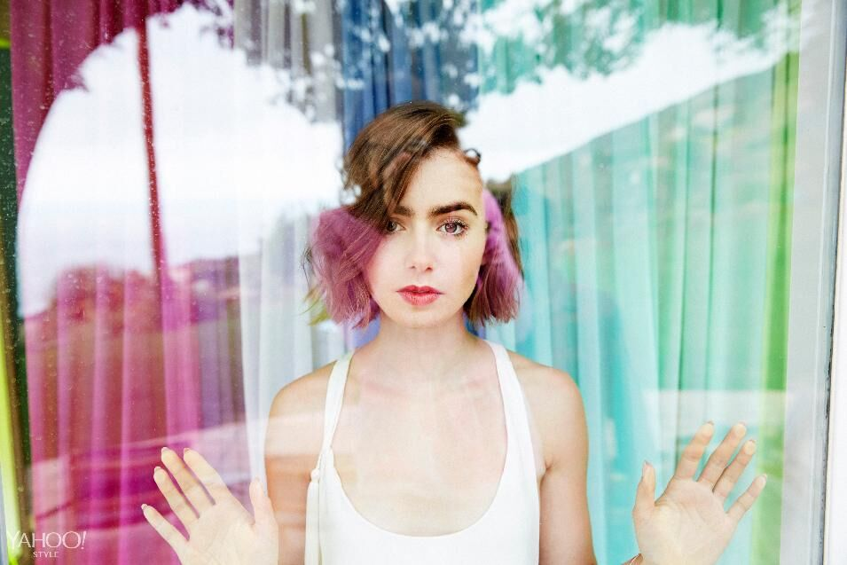 Лили Коллинз в интернет-журнале Yahoo Style