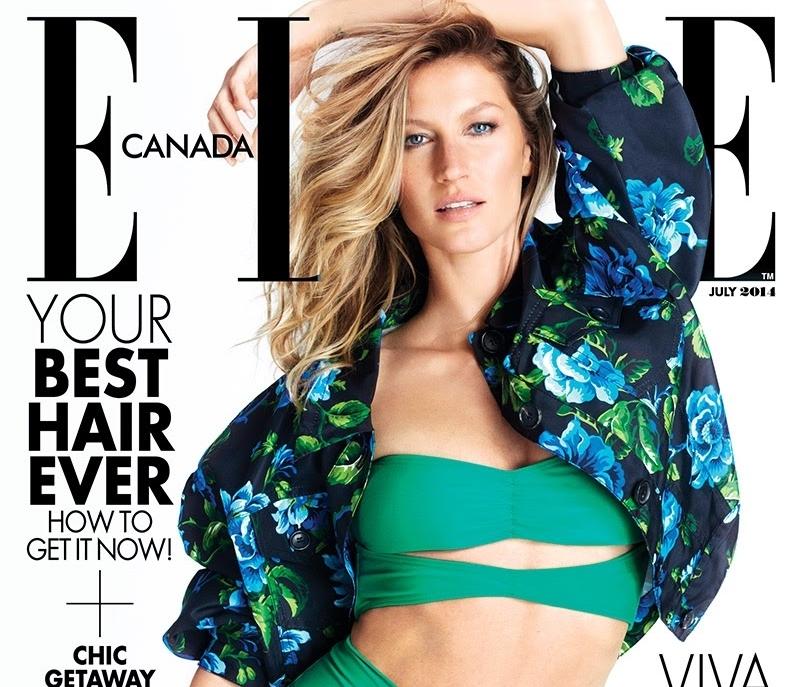 Жизель Бундхен в журнале Elle Канада. Июль 2014