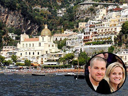 Риз Уизерспун и Джим Тот отдыхают в Италии