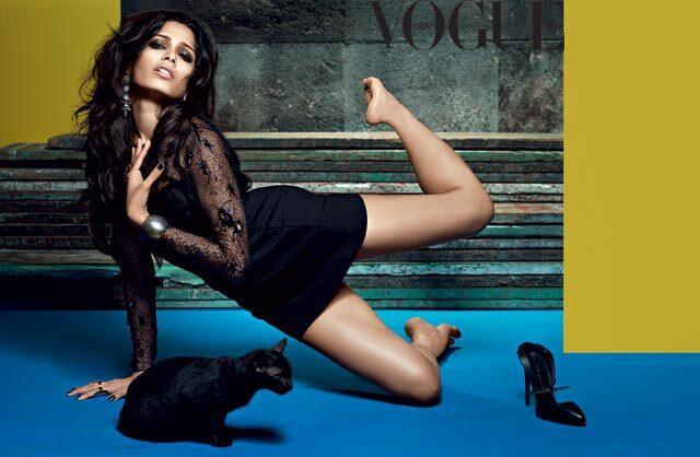 Фрида Пинто в журнале Vogue Индия. Октябрь 2013