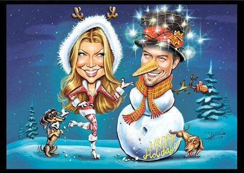 Рождественская открытка от Ферги и Джоша Дюамеля
