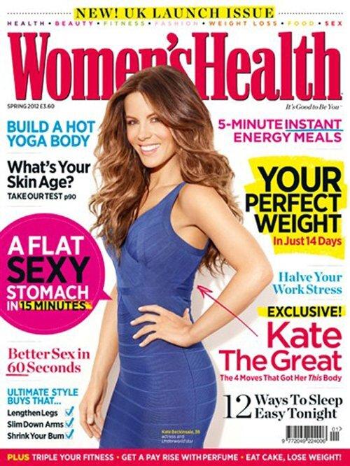 Кейт Бекинсэйл в журнале Women's Health Великобритания. Март 2012