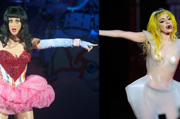 Кэти Перри против борьбы Кэтикошечек и монстриков  Lady Gaga