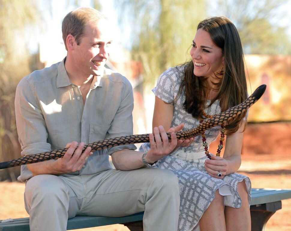 Кейт Миддлтон и принц Уильям в парке Улуру-Ката Тьюта