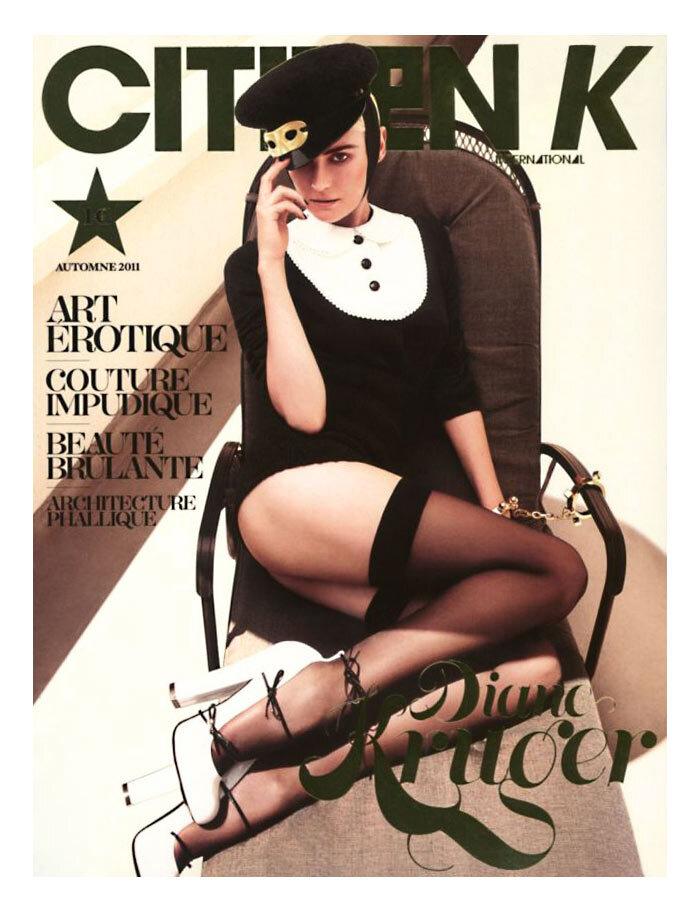 Дайан Крюгер в журнале Citizen K. Осень 2011