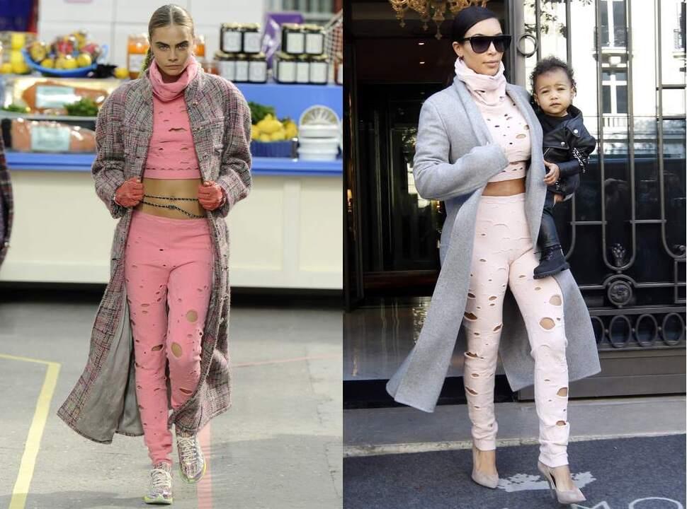 Fashion battle: Кара Делевинь и Ким Кардашян
