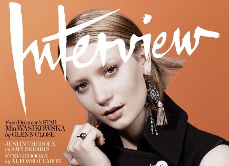 Миа Васиковска в журнале Interview. Август 2014
