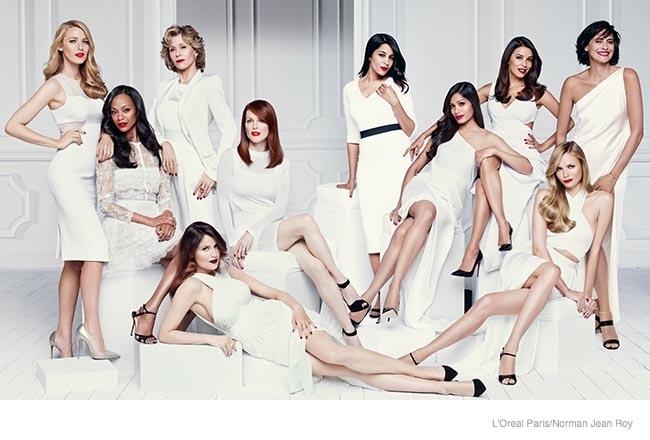 Звезды в рекламной кампании L'Oreal Paris
