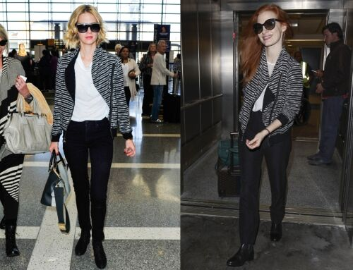 Fashion battle: Дженьюари Джонс и Джессика Честейн