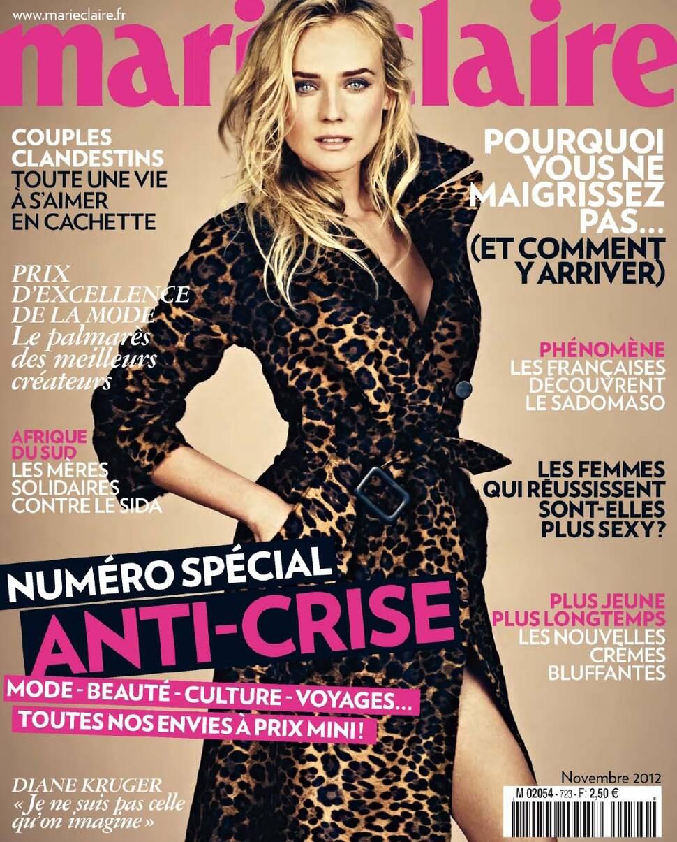 Дайан Крюгер в журнале Marie Claire Франция. Ноябрь 2012
