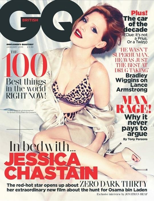 Джессика Честейн в журнале GQ Великобритания. Январь 2013