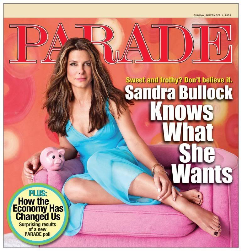 Сандра Буллок в журнале PARADE. Ноябрь 2009