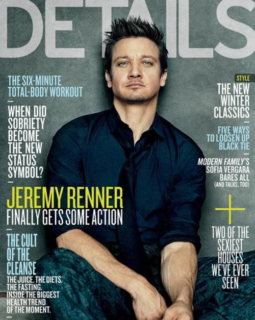 Джереми Реннер в журнале Details. Декабрь / Январь 2012