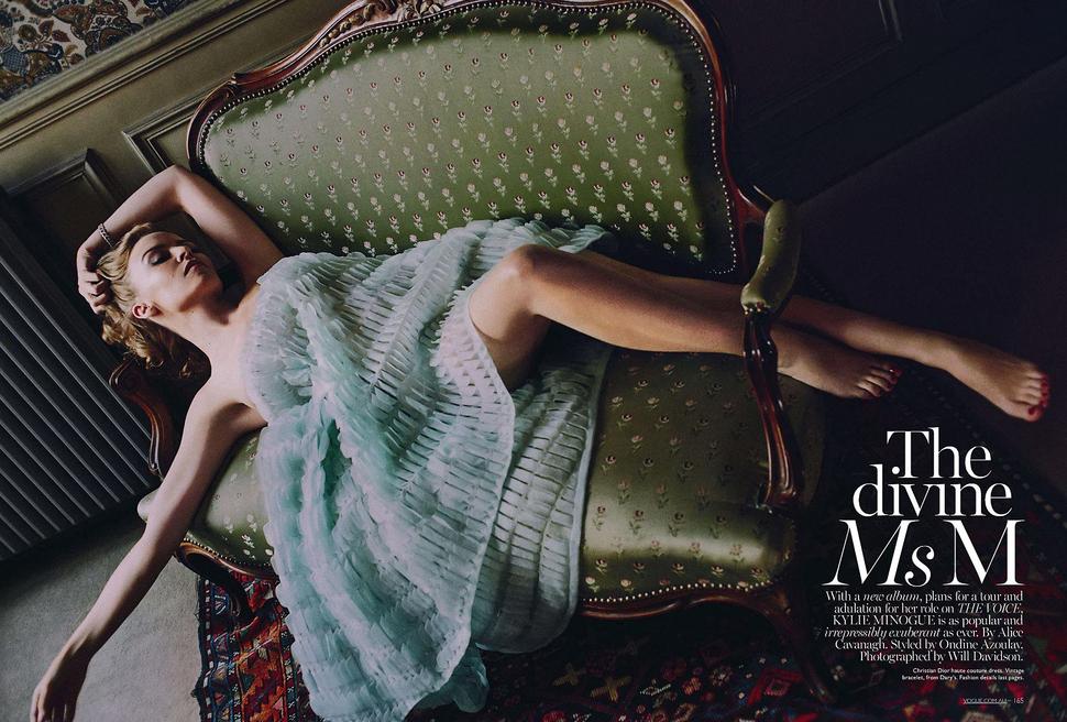 Кайли Миноуг в журнале Vogue Австралия. Май 2014