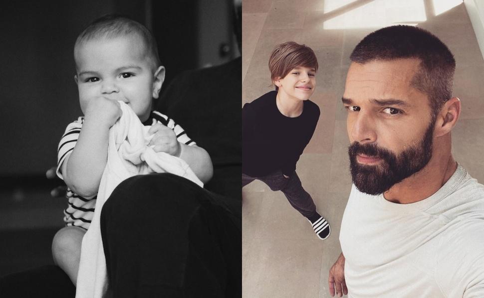 Фото: Рики Мартин впервые показал лицо пятимесячного сына