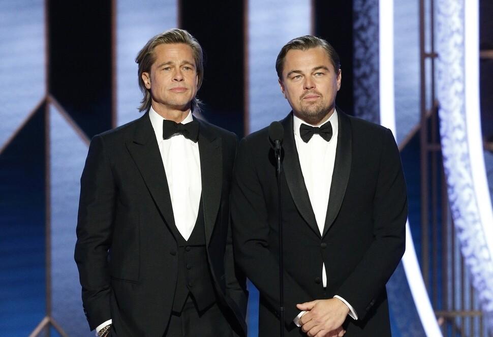 Брэд Питт поблагодарил Леонардо ДиКаприо, упомянув «Титаник»: «Я бы разделил с тобой ту дверь»