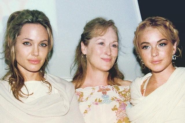 «Добрые старые времена»: Линдси Лохан показала архивное фото с Мерил Стрип