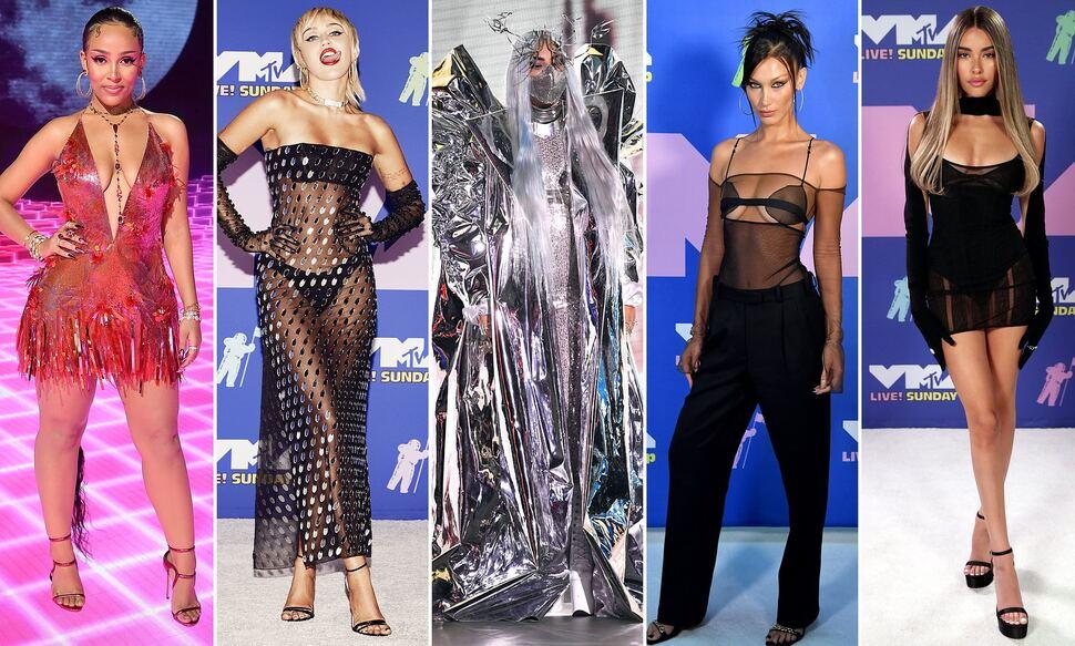 Вопреки коронавирусу: звезды собрались на «красной дорожке» MTV Video Music Awards 2020