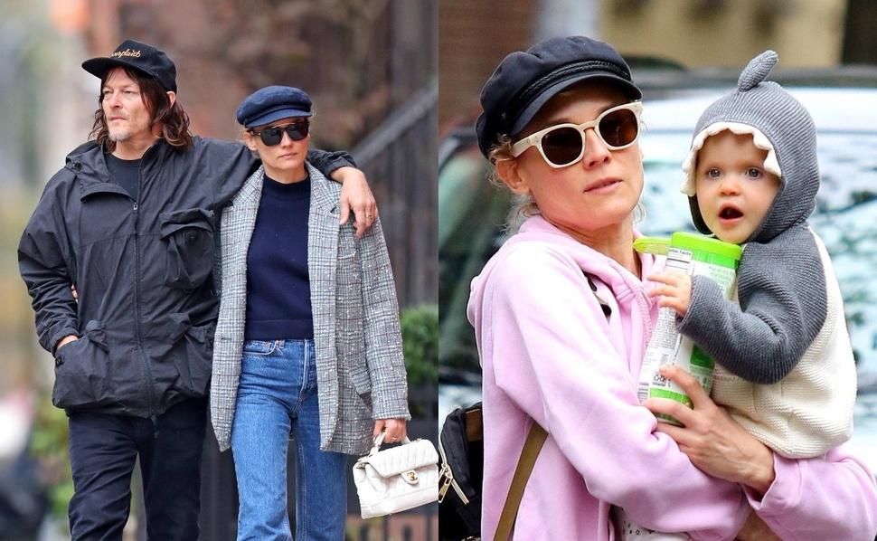Фото: Норман Ридус и Диана Крюгер на прогулке в Нью-Йорке