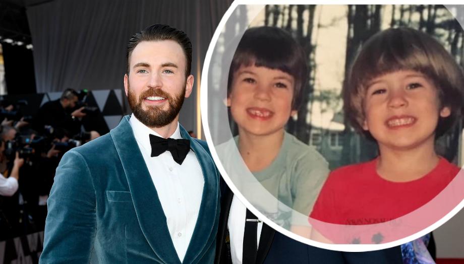 Капитану Америке почти 40: брат Криса Эванса поделился детскими фото актера