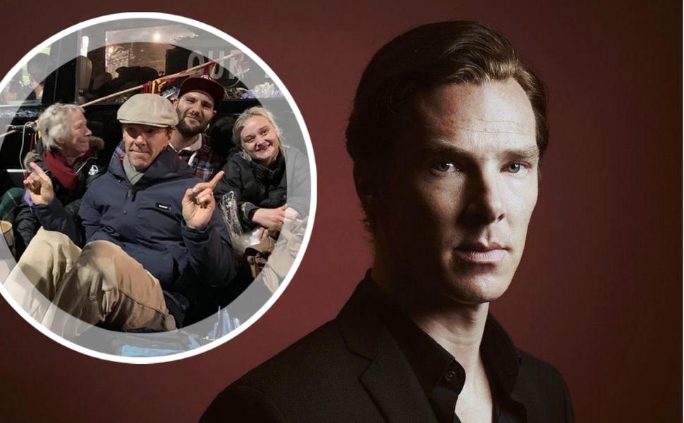 Звезда «Шерлока» Бенедикт Камбербэтч принял участие в лондонских эко-протестах